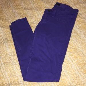 Cute purple skinny jeans